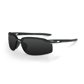 CrossFire ES5W Adjustable Wire Temples Safety Glasses - CrossFire - Solid black half frame safety glasses with dark tinted lenses and rubber temples