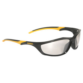 DeWalt Slim Lightweight Premium Router Safety Glasses - black and yellow frame safety glasses with clear lenses.