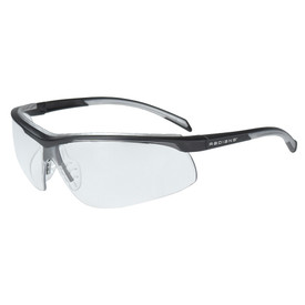 Radians T71 Adjustable Nosepiece Safety Glasses - black and silver half frame safety glasses with clear lenses and adjustable nose piece.