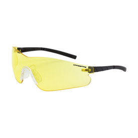 CrossFire Blade Frameless Safety Glasses - CrossFire - Frameless safety glasses with yellow lenses and black rubber temples