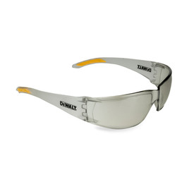 DeWalt Rotex - Lightweight Frameless Safety Glasses - white smoke frameless safety glasses with white smoke lenses, white smoke rubber temples and peripheral protection.