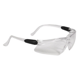 Radians Basin Adjustable Anti-Fog Safety Glasses - Clear half frame safety work glasses with adjustable size temples and clear lenses