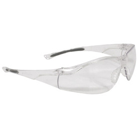Radians Sonar WrapAround Anti-Fog Safety Glasses - clear wrap around safety glasses with clear lenses and black temples