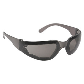 Radians Mirage Foam Lined Frame Safety Glasses - light brown frameless safety glasses with light brown lenses and black foam padding