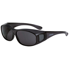CrossFire OG3 OTG Safety Glasses - CrossFire - Solid dark gray full frame safety glasses with dark gray front and peripheral lenses