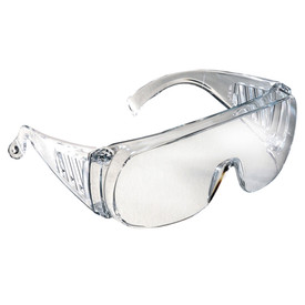 Radians Chief One Piece Lens OTG Safety Glasses - Clear full frame safety goggles with full area protection