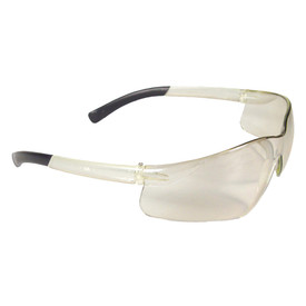 Radians RAD-Attac Small Lightweight Safety Glasses - frameless safety glasses with white gold lens and black temple.