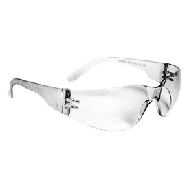 Radians Mirage Small WrapAround Safety Glasses - frameless safety glasses with light grey lenses and temple.