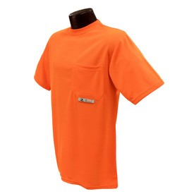 Radians NON-ANSI Polyester Mesh Short Sleeve T-Shirt - Bright yellow short sleeve athletic shirt with black sides