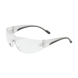 PIP Bouton 250-01-090 safety glasses with clear temples and clear rimless lens.
