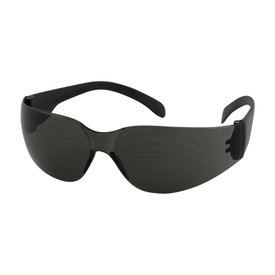PIP Bouton 250-00-0001 safety glasses with black temples and grey rimless lens.