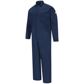 Bulwrk CAT 2 Navy Coverall - front view