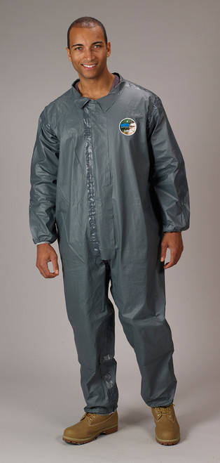 84e1b911f18e Lakeland FR Chemical Elastic Ankles Pyrolon CRFR Coveralls - Front View of  a man wearing a