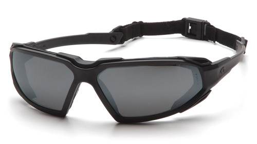 58b9f8ec1087 ... Pyramex Highlander Soft Foam Comfort Safety Glasses - Black full frame  safety glasses with gray lenses ...