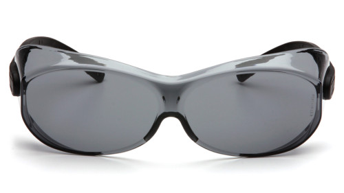 d8b76ad7595 ... Pyramex OTS XL Fit Over Safety Glasses - Clear frame safety glasses  with gray lenses