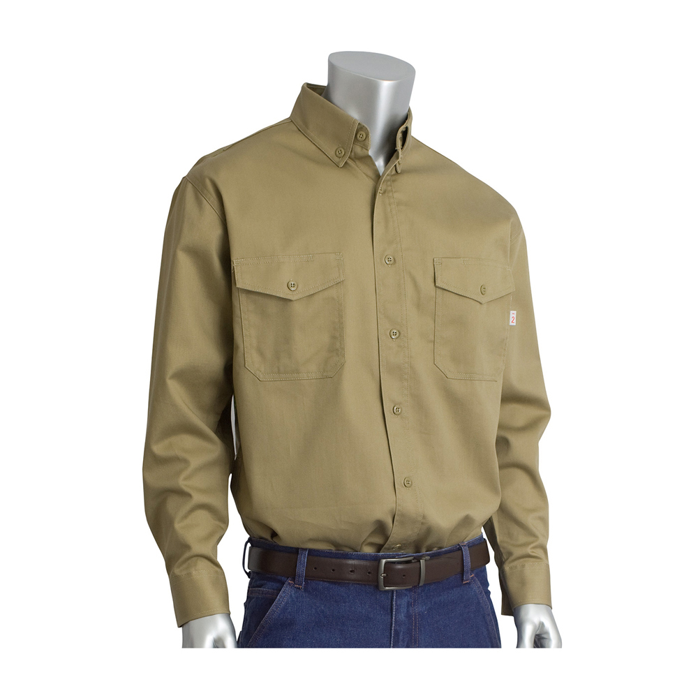 9e7886b939d7 ... PIP Flame Resistant HRC 2 Button Dress Work Shirt - Long sleeve  collared button up shirt