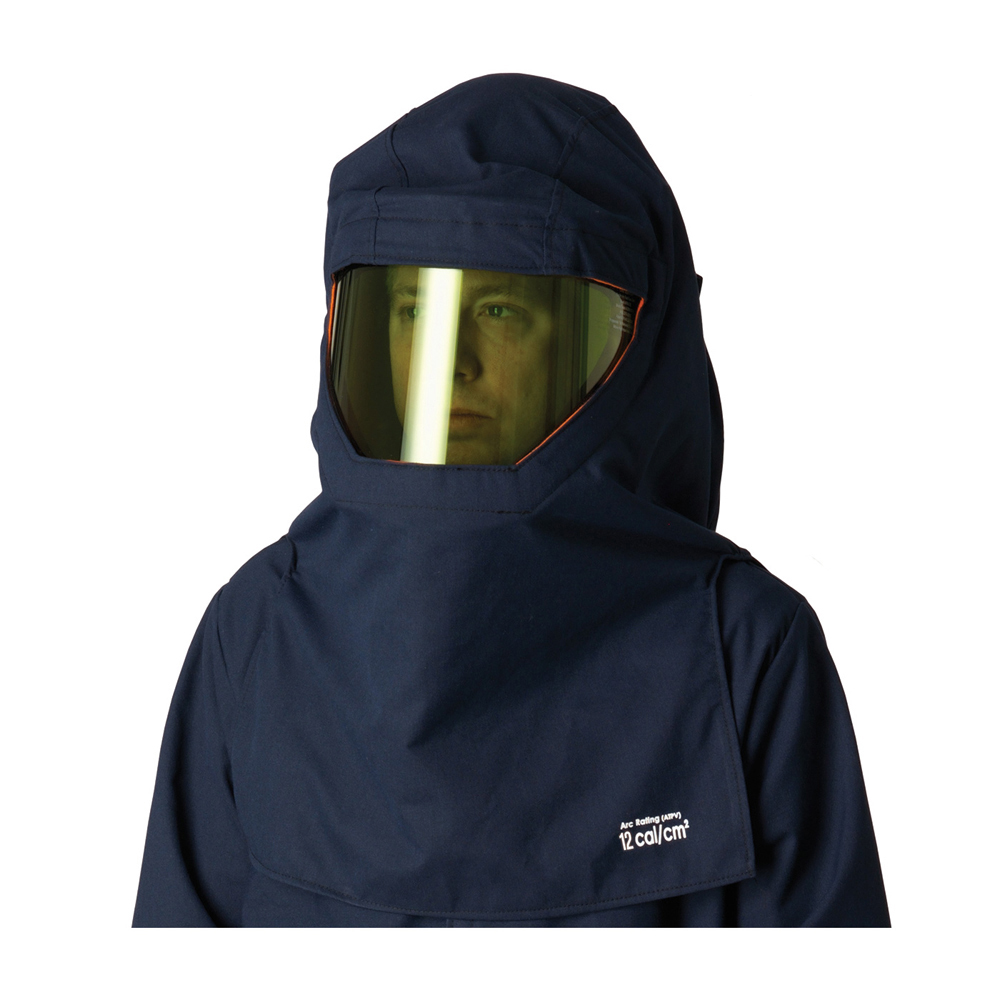 0b4f05758ae8 PIP Flame Resistant CAT 2 Ultrasoft Arc Hood   Hard Hat - Navy blue  coverall top