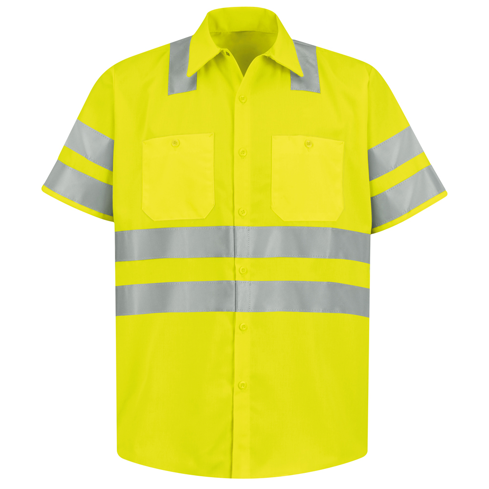 Red Kap Ss24 Hi Viz Ansi Class 3 Short Sleeve Work Shirt Aris