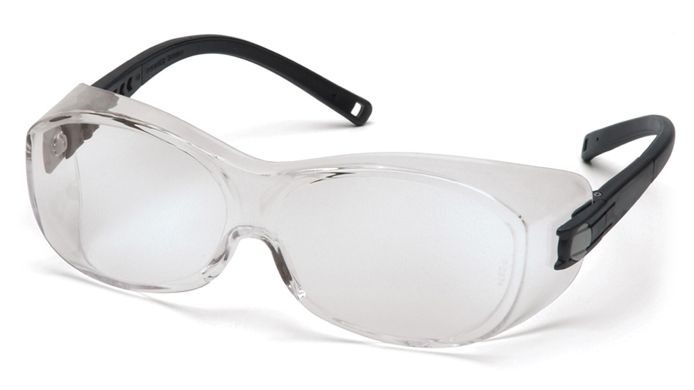 f309ea75a2 Pyramex OTS Fit Over Safety Glasses - Clear frame safety glasses with clear  anti fog lenses ...