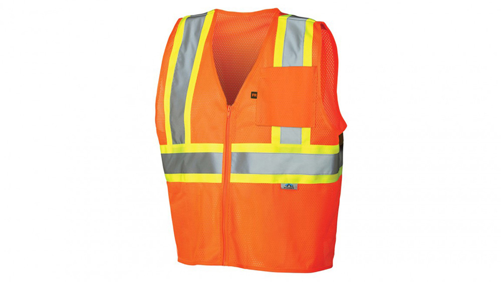 a443ad01fbec ... Pyramex Class 2 Flame Retardant 2-Tone Trim Safety Vest - Front View of  Hi