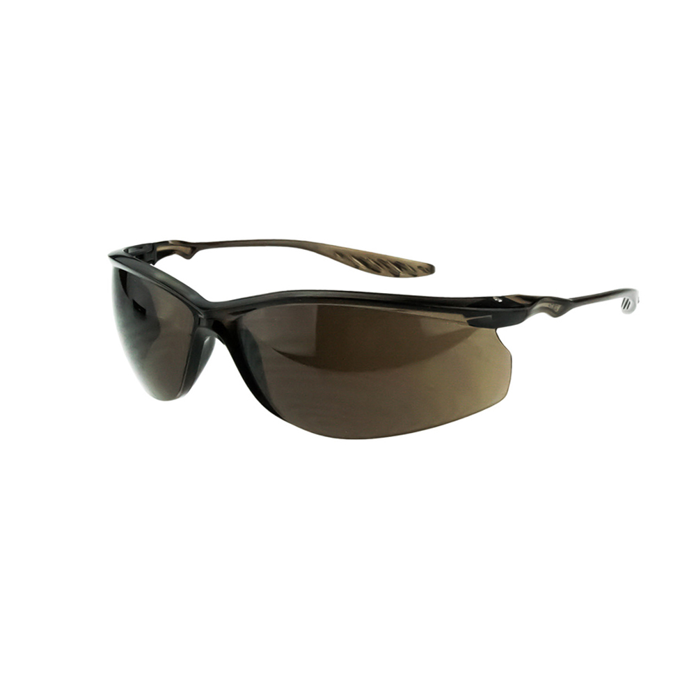 7e63067f78 ... CrossFire 24Seven Ultra Lightweight Safety Glasses - CrossFire brown  half frame lightweight safety glasses with brown ...