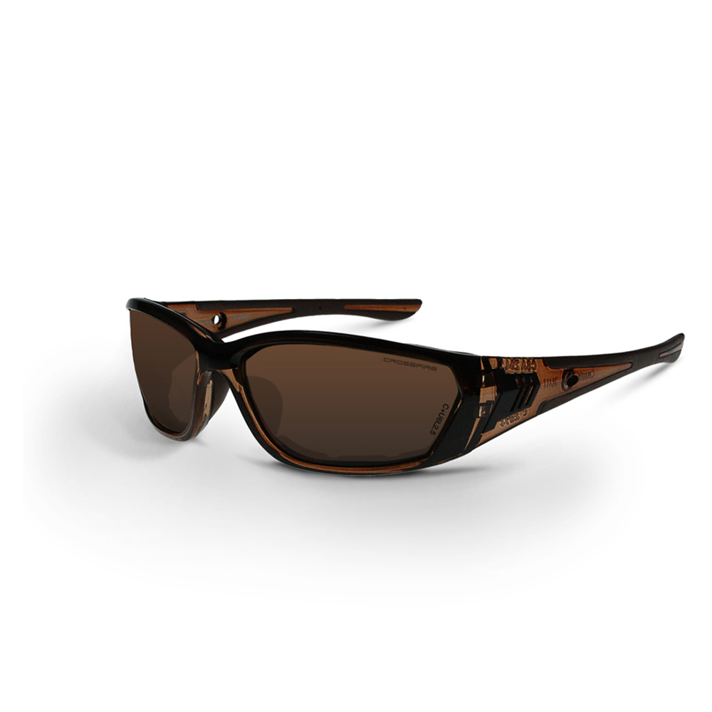 7b82a1c266 CrossFire 710 Foam Lined Frame Safety Glasses - CrossFire - Black and brown  full frame foam ...