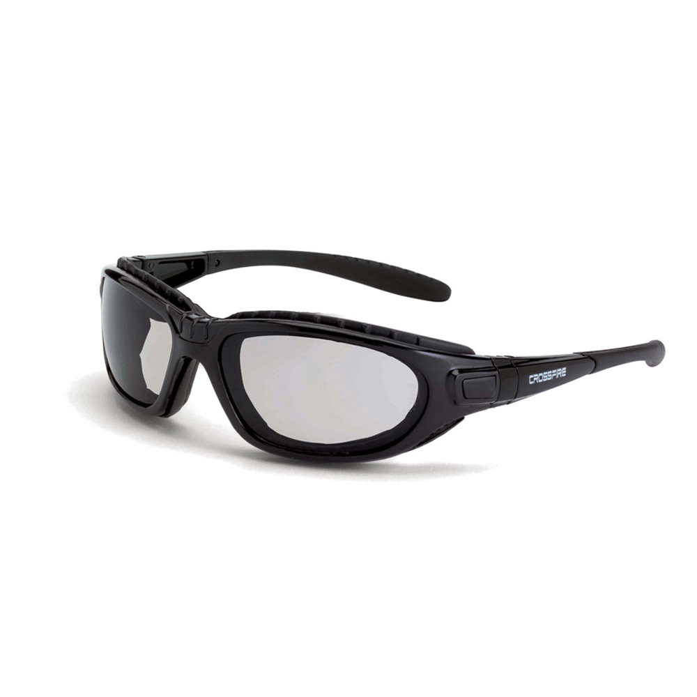 585ad7893b6 ... CrossFire Journey Detachable Temples Safety Glasses - CrossFire - Dark  black full frame foam padded safety ...