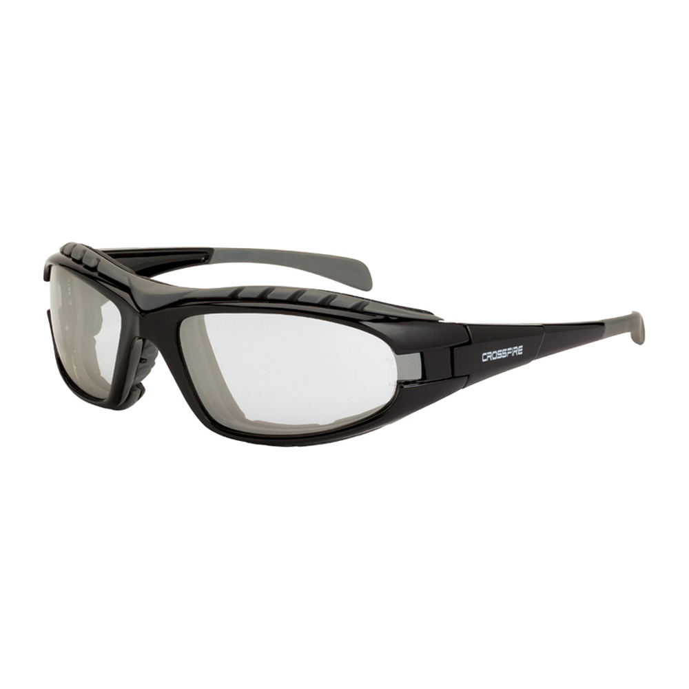 3084574c5d ... CrossFire Diamond Back Foam Lined Frame Safety Glasses - CrossFire -  Solid black full frame foam ...