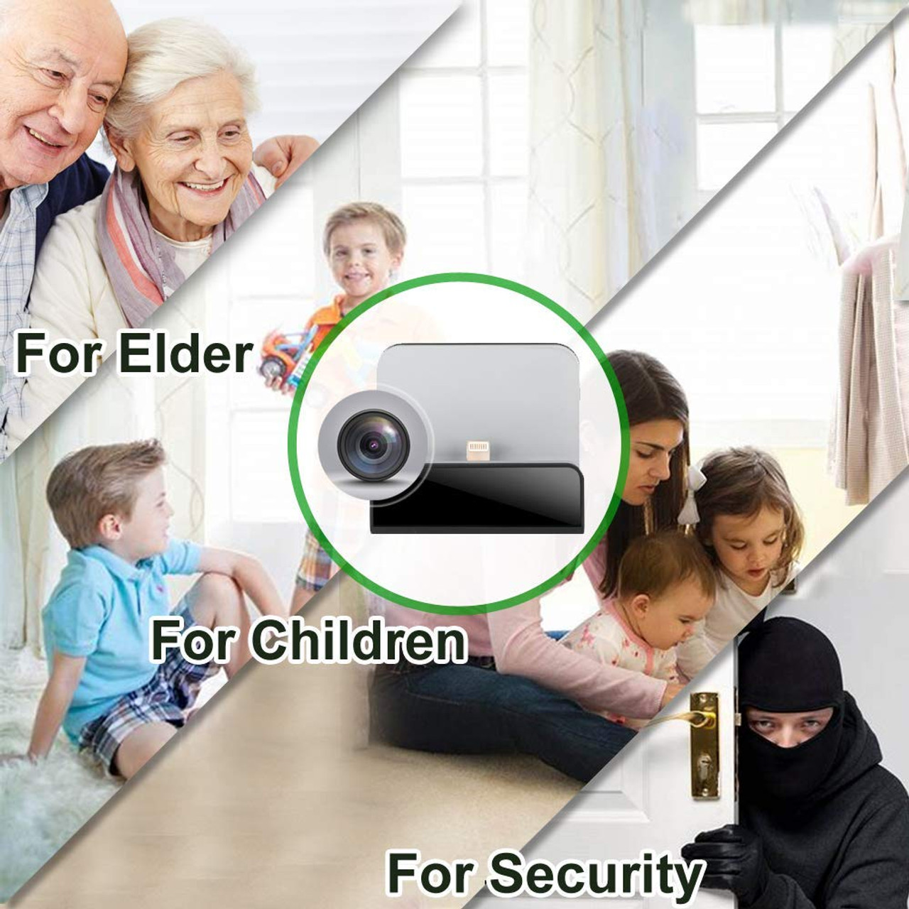 Phone Dock Charger 1080P Wi-Fi Camera