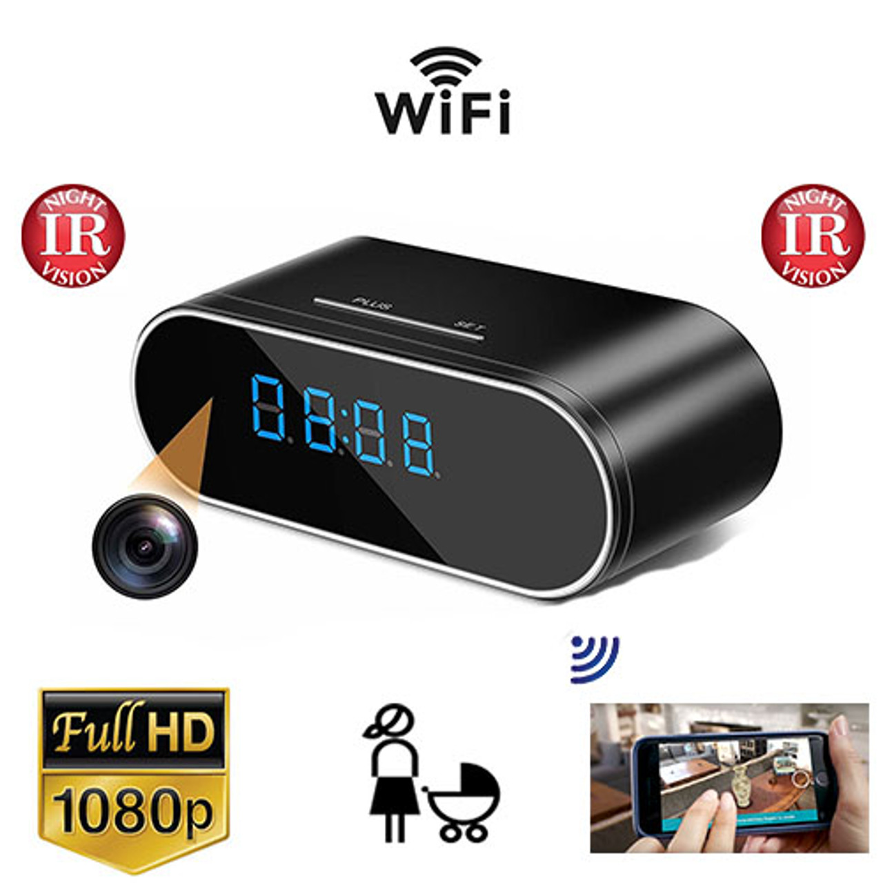 4K HD 1080P WIFI Hidden Security Camera Motion Home IR Cam Nanny Night Vision