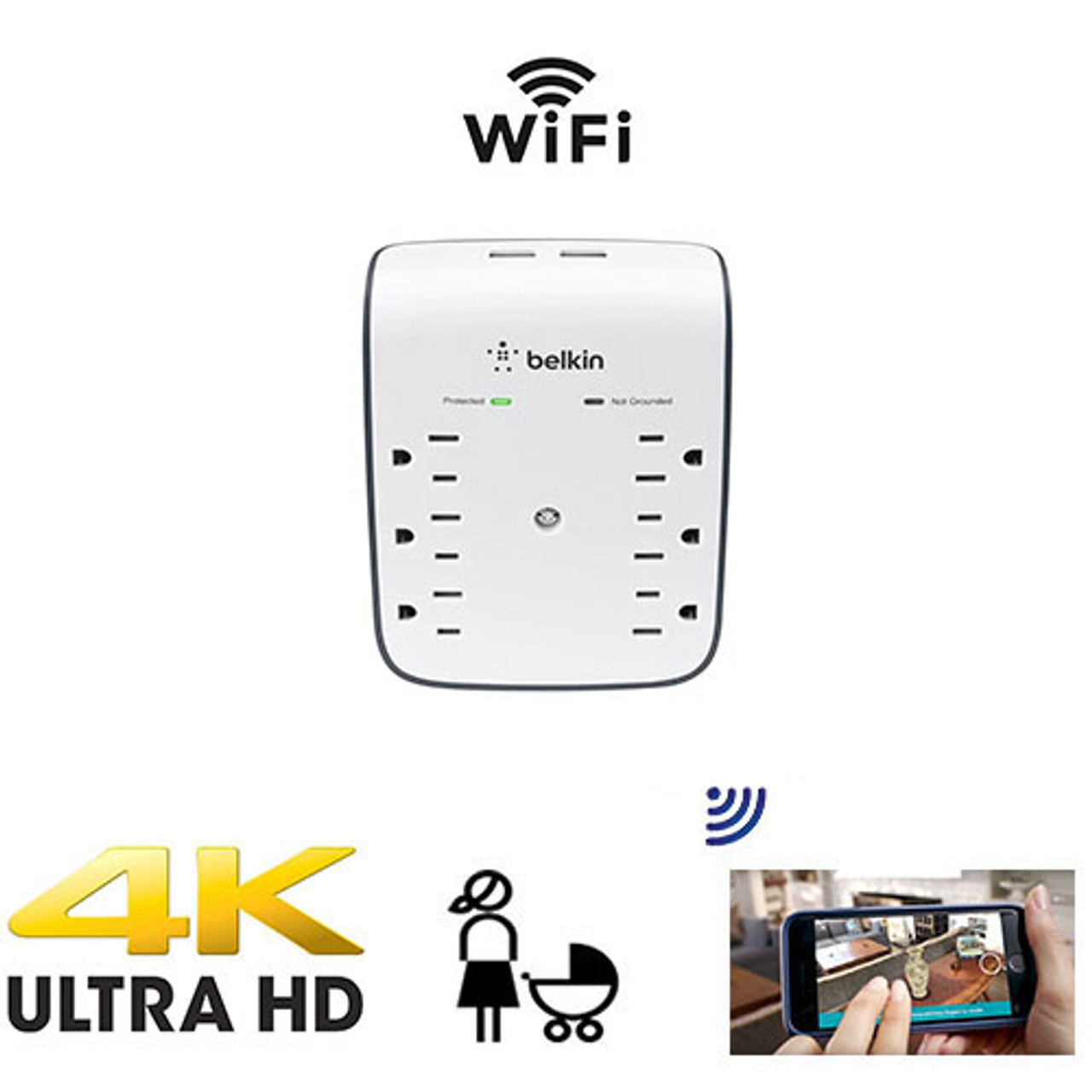 WiFi Surveillance Camera Surge Protector