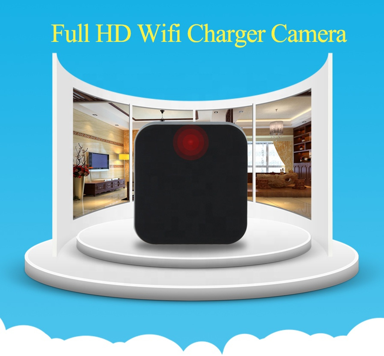 Wifi  Wall AC Charger Baby Monitor with Night Vision