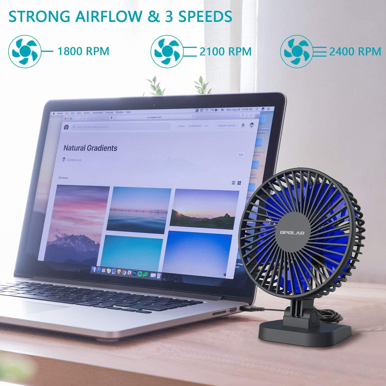UHD 4k WiFI P2P USB Desktop Fan Nanny Cam W/ Live View WiFi + Dvr
