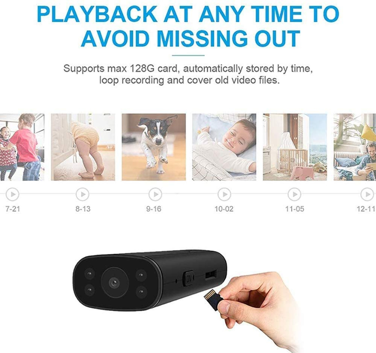 Portable Wireless WiFi Remote View Camera - Home Security Cameras Indoor Outdoor Video Record Smart Motion Detection with night vision