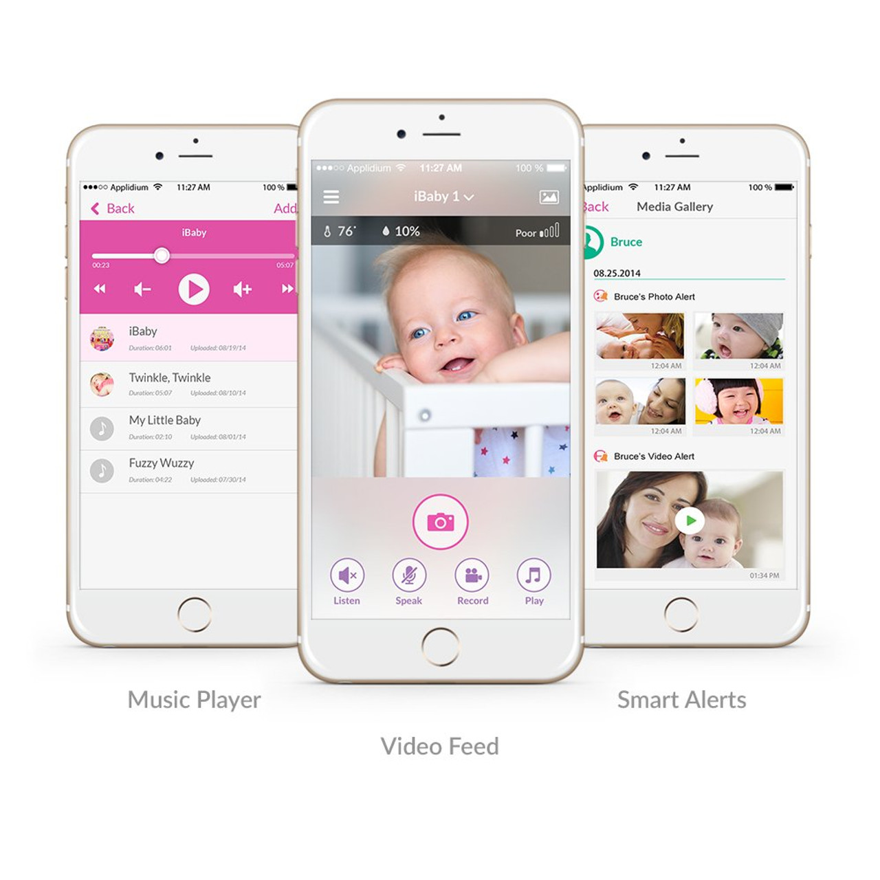 Smart WiFi Baby Monitor M7 Lite, 1080P Full HD Camera, Two Way Talk, Temperature Sensor, Night Vision, Wake Up and Bedtime Music, Remote Pan and Tilt with Smartphone App for Android and iOS