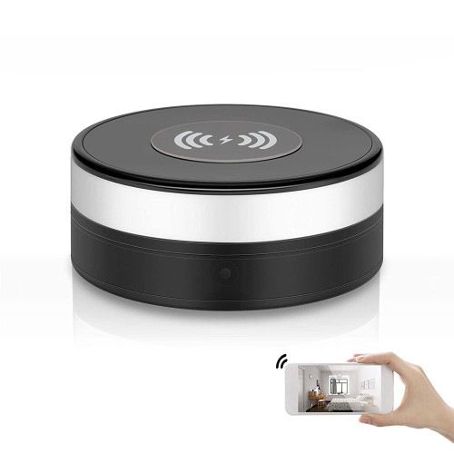 Wireless Charger 90° Lens Rotate Video Recorder WiFi 1080P HD  Motion Detection
