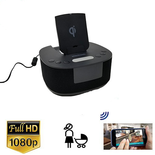 1080P Hd Radio/Phone Charging Station Nanny Camera With 128 gig Internal memory included