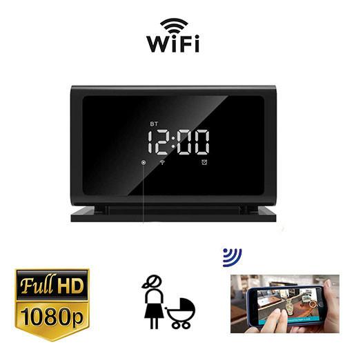 Alarm Clock Security Camera WiFi - Motion Detection Home Surveillance W/ Super Night Vision