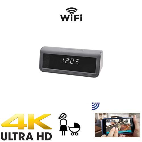 UHD 4K  Wireless WiFi Clock Nanny Camera W/ Live View WiFi + Dvr