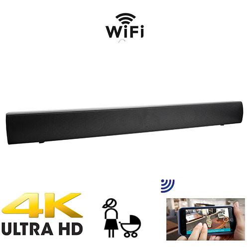 4K Ultra HD Functional Soundbar  Nanny Cam With Live Streaming Video