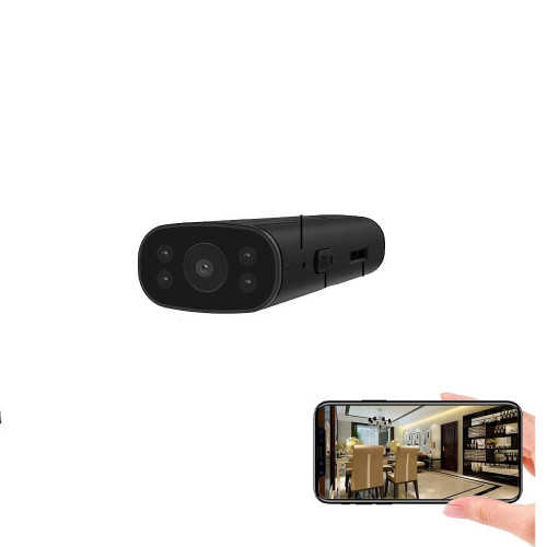 Portable Wireless WiFi Remote View Camera Small Home Security Cameras Indoor Outdoor Video Record Smart Motion Detection with Audio