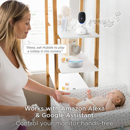 "Video Baby Monitor -Nanny Cam - 5"" Parent Unit and HD Wi-Fi Viewing for Baby, Elderly, Pet - 2-Way Audio, Night Vision, Remote Pan/Digital Zoom"