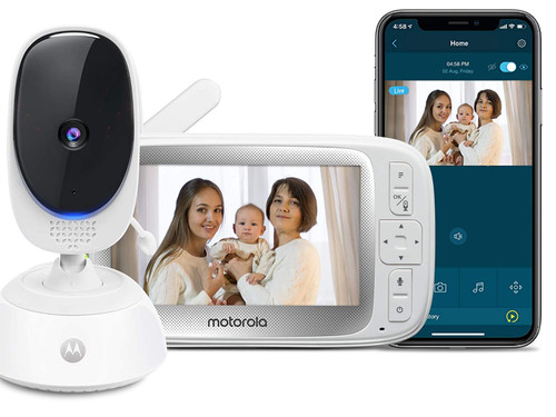 """Video Baby Monitor -Nanny Cam - 5"""" Parent Unit and HD Wi-Fi Viewing for Baby, Elderly, Pet - 2-Way Audio, Night Vision, Remote Pan/Digital Zoom"""