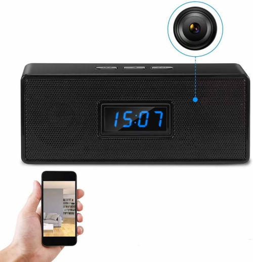 Bluetooth Speaker Alarm Clock WiFi Surveillance Camera