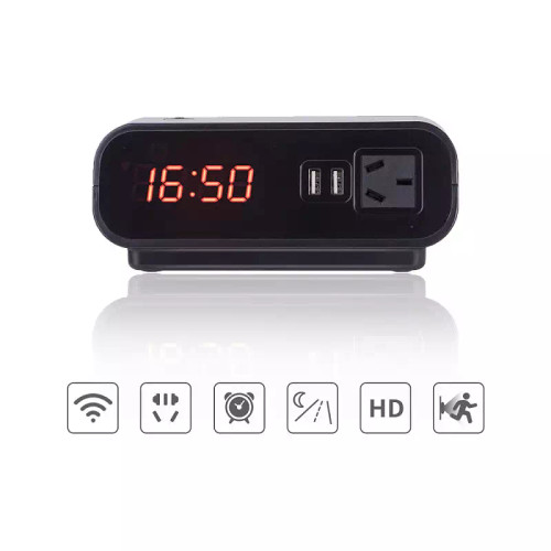 HD 1080P WiFi Smart Home Security Clock Camera w/ Night Vison