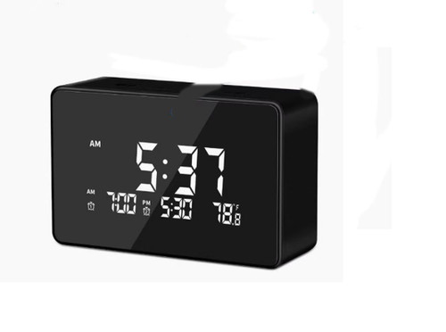 Clock WiFi Nanny Cam With 140 Degree Wide Angle Lens and Night Vision