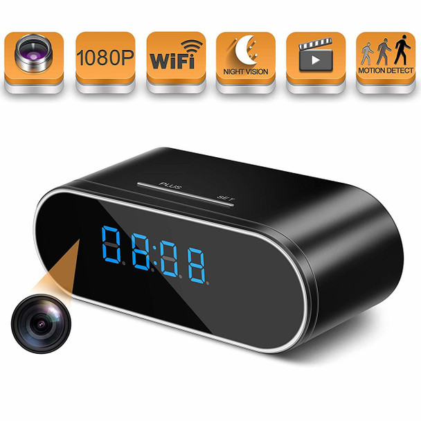 HOSUKU 1080P Clock Cameras Wireless IP Surveillance Camera for Home Security Monitor 140°Angle Night Vision Motion Detection