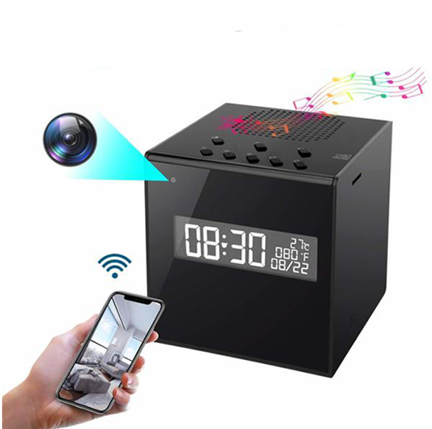 Kkeep Bluetooth Speaker Surveillance WiFi HD 1080P Nanny Camera with Night Vision Wireless Stereo Speaker