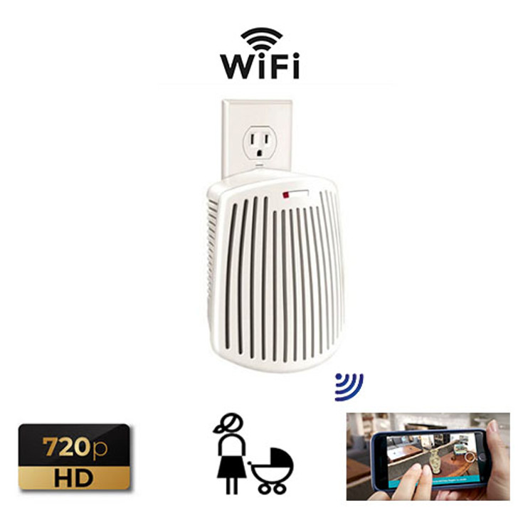 odor elimator with built-in Micro SD DVR. Plus this model is also a WiFi IP Network Camera that is capable of LIVE remote viewing and recording on PC's, Laptops, iPhones, iPads, and Android Devices.