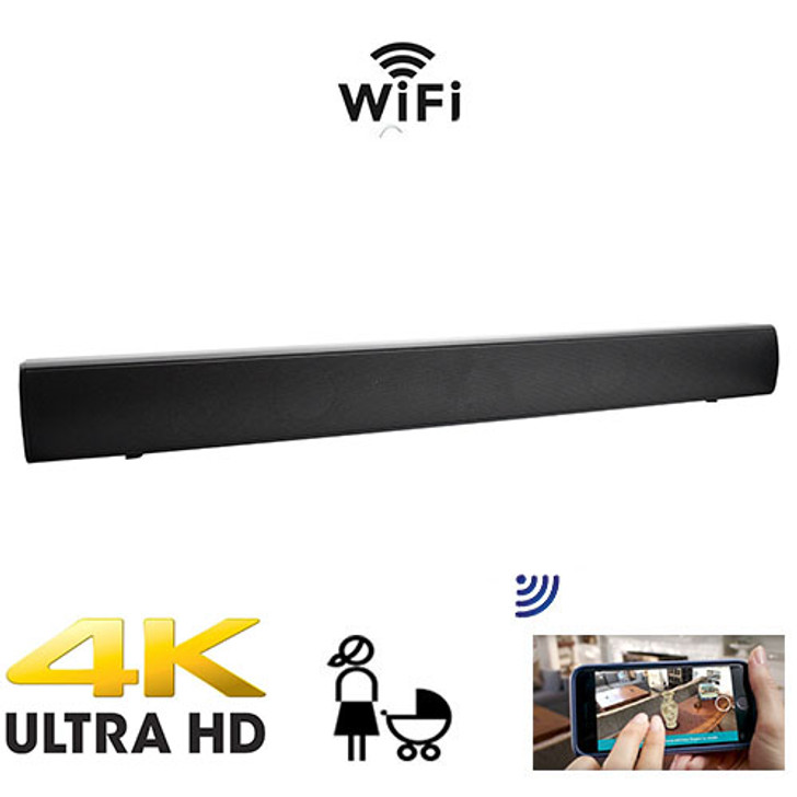 4K Ultra HD Functional Soundbar  Nanny Cam With Live Streaming Video